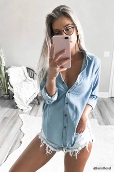 Chambray Button-Down Shirt | Forever 21