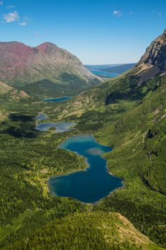 Bullhead Lake Portrait From Swiftcurrent Pass Trail -- Logan Pass to Many Glacier Via Highline and Swiftcurrent Pass Trails, Glacier National Park, Montana | pinned by haw-creek.com