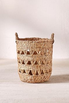 Slide View: 2: Lucy Woven Laundry Basket