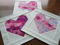 Paper pieced Hearts for a good cause...