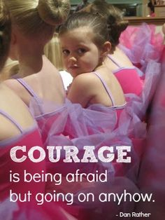 COURAGE is being afraid but going on anyhow.    Thank you Kleenex for sponsoring the linked blog post! To show your team spirit, visit http://clvr.li/T4jkVS. #MajorLeagueMom #spon