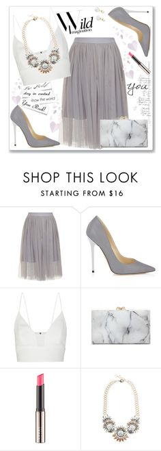"""""""Wild Imagination...."""" by christinacastro830 ❤ liked on Polyvore featuring Jimmy Choo, Narciso Rodriguez, Charlotte Olympia, LORAC and Amber Sceats"""