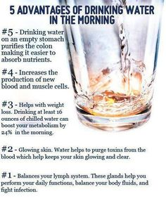 5 Advantages of Drinking Water in the Morning #water #nutrition