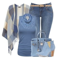 A fashion look from January 2017 featuring cape coats, skinny jeans and blue cami. Browse and shop related looks. Classy Outfits, Stylish Outfits, Fall Outfits, Fashion Outfits, Womens Fashion, Date Night Outfit Curvy, Bodycon Dress With Sleeves, Casual Chic Style, Colourful Outfits