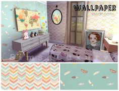 Owly Wall at Sims4 Luxury via Sims 4 Updates
