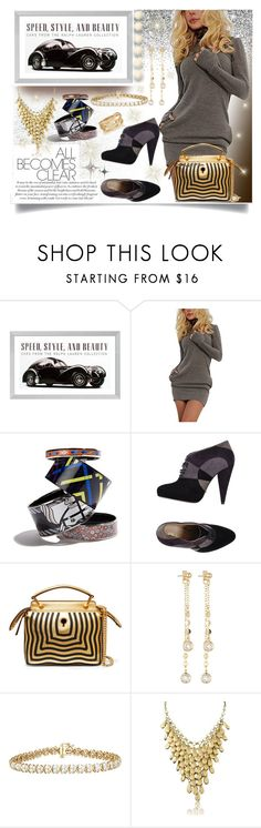 """""""Girl and her car"""" by jeneric2015 ❤ liked on Polyvore featuring Eichholtz, Prada, Fendi, Fragments, Adoriana and SPINELLI KILCOLLIN"""
