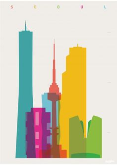 shapes of cities prints present signature buildings from iconic cities