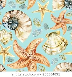 Find Watercolor Nautical Seamless Pattern Hand Painted stock images in HD and millions of other royalty-free stock photos, illustrations and vectors in the Shutterstock collection. Thousands of new, high-quality pictures added every day. Free Vector Art, Starfish, Sea Shells, Illustration, Nautical, Royalty Free Stock Photos, Hand Painted, Watercolor, Pattern