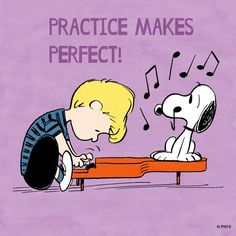 So many hours of practice at the piano Peanuts Cartoon, Peanuts Snoopy, Schroeder Peanuts, Snoopy Love, Snoopy And Woodstock, Snoopy Comics, Snoopy Pictures, Snoopy Quotes, Peanuts Quotes