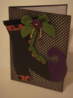 Witch shoe card by CraftyClippingsbyPeg on Etsy