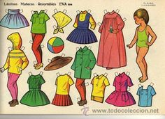 10 láminas muñecas recortables eva. nº 851 al 8 - Comprar Muñecas en todocoleccion - 45113183