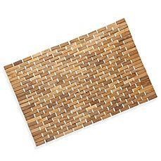 image of Conair® Pollenex™ Solid Teak Roll-Up Shower Mat