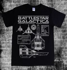 BATTLESTAR GALACTICA - Colonial Viper blueprints, schematics spec and stats T-shirt on Etsy, $18.95