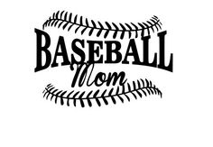 Baseball Mom SVG File.  For Silhouette or by NamasteHandMade