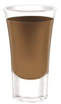 Tootsie Roll ( shooter) ===  2/3 oz Three Olives Chocolate Vodka,       1/3 oz amaretto,       Chocolate Syrup    +++++Preparation:        Pour the ingredients into a cocktail shaker filled with ice.      Shake well.      Strain into a shot glass.