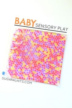 Baby-safe water bead sensory play from Sugar Aunts