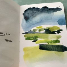 Small colour notes, keeping it simple alice sheridan sunday sketchbook expe Watercolor Sketchbook, Artist Sketchbook, Abstract Watercolor, Sketchbook Drawings, Sketching, Abstract Art, Landscape Drawings, Abstract Landscape, Watercolor Landscape