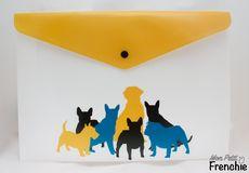 Porta-documentos 'Razas' amarillo