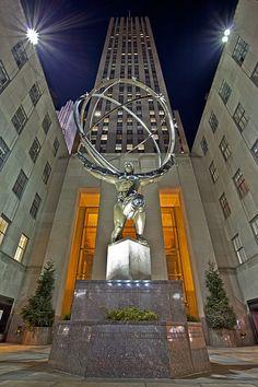 Atlas Statue, Rockefeller Center,NYC.