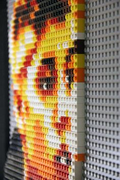 Lego mosaic of Arnold Schwarzenegger as The Terminator created using     Justin Beiber Lego mosaic detail  Lego  photobrix