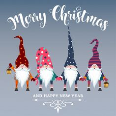 Beautiful Flat Design Christmas Card With Gnomes - - Discover thousands of Premium vectors available in AI and EPS formats. Christmas Snowman, Christmas Crafts, Christmas Decorations, Xmas, Christmas Christmas, Christmas Greeting Cards, Christmas Greetings, Christmas Poster, Vector Christmas