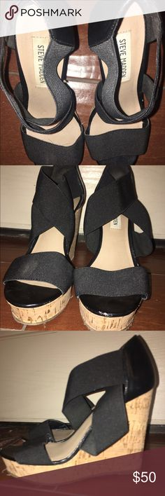 Steve Madden wedges Like new, just too small for me Steve Madden Shoes Wedges