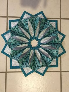 Fold and stitch fabric wreath