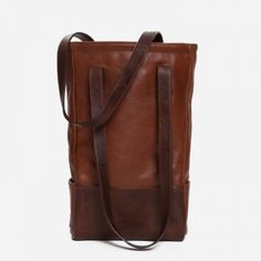 Moore & Giles Leather Bottle Tote in Titan Milled Honey