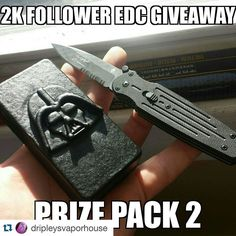 #Repost @dripleysvaporhouse with @repostapp.  I promised it would happen sorry I'm late.  HERE'S THE 2ND PRIZE PACK! Gerber Covert Fast Mini. The Darth Mini basic box parallel 18650 sporting a nitrile grip coating.  Like follow repost and tag to win! Unlimited repost!  Let's hit 2k!  #giveaway #gaw #tacticool #tactical #edc #edc #everydaycarry #boxmod #boxmods #vapenation #vaperscommunity #vapingcommunity #vapefam #vapelife #vaping #vape #subohm #rda #cloudchaser #cloudchasing #calivapers…