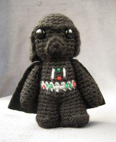 PDF of Darth Vader - Star Wars Mini Amigurumi Pattern. $3.50, via Etsy.