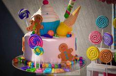Candyland cake at a Sweet Shoppe Party #sweetshoppe #partycake