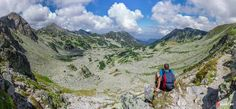 A  hiker admires the Retezat Mountains seen from Bucura Saddle. Click on the link for more pictures from the Retezat Mountains: http://bydaniel.me/photo-tour-in-the-carpathian-mountains/  #Romania   #Carpathian   #CarpathianMountains   #Retezat   #Transylvania   #landscape   #alpine   #fromromania   #mountains   #nature   #summer   #travel   #tours   #hqsplandscape