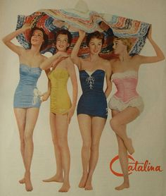 1940's. catalina swimwear.