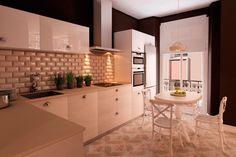 Interior design project for Goya Intercontinental. Parisian kitchen. #interiordesign #parisian