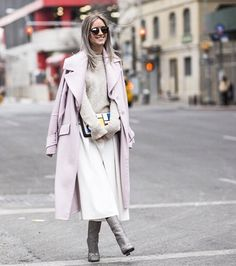 Street style during NYFW Fall 2015 via #netaporter #gucci #pastels #NYFW