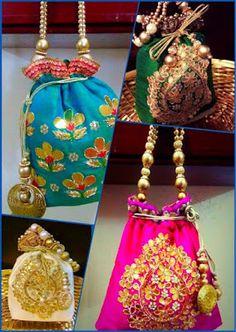 Gotta Patti potli bags from Asmara by Simran Wedding Bag, Wedding Favor Bags, Mojo Bags, Potli Bags, Ethnic Bag, Types Of Bag, Fabric Bags, Small Bags, Online Bags