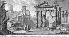 Ruine del Foro di Nerva (Giuseppe Vasi, 1758)
