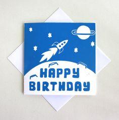 Children's Birthday Card. by TheLinoPrintShop, £2.30