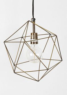 Magical Thinking Geo Pendant // Modern fixtures for the living room Home Lighting, Pendant Lighting, Wire Pendant, Lighting Ideas, Bedroom Lighting, Pendant Lamps, Light Pendant, Funky Lighting, Jar Chandelier