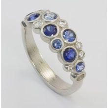 Alex Sepkus Orchard Diamond and Sapphire and Diamond Ring in Platinum - Lux Bond & Green