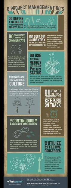 8 Project Management Do's #infographic