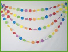 Rainbow party garland - easy to sew, and looks so cute!
