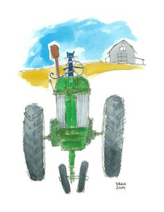 Pete the Cat | Pete Driving the Tractor