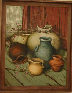 "Oleo sobre tela ""Diferentes vasijas"""