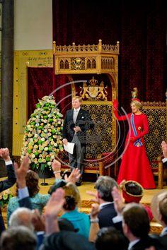 Dutch royals at Prinsjesdag 2014