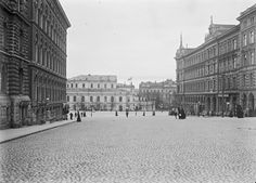 vintage everyday: Vintage Photos of Street Scenes of Helsinki, Finland, ca. 1900s