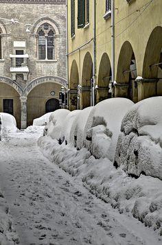 Winter in Bologna Italy