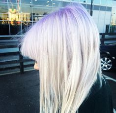 purple roots using violet skies (bleach london)