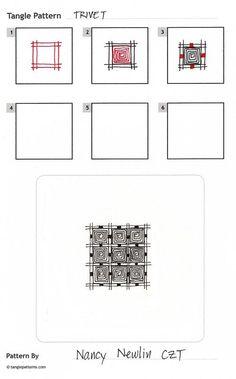 Zentangle Patterns | Tangle pattern: Trivet