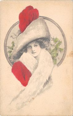 J Knowles Hare~Lovely Christmas Lady~Red Hat & Coat~White Fur~Mistletoe~Empire FOR SALE • $9.00 • See Photos! Money Back Guarantee. AP42401 Welcome to Refried.jeans Selling on Ebay for 15 Years 50,000+ in our Ebay Store... and Growing! Postcard Size: Standard 3 1/2 by 5 1/2 (Unless Otherwise Noted Above) USING 302474185816